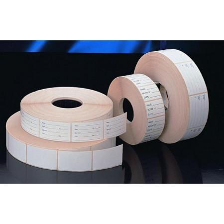 Öntapadós fehér címkék, üres vagy nyomtatott felülettel, tekercsben