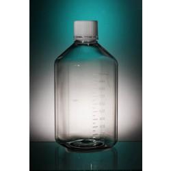 Szögletes steril mintatároló PET flakon