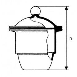 Exszikkátor üveggömbös fedővel, plancsiszolattal