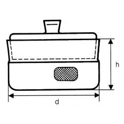 Mérlegedény csiszolt tetõvel, alacsony vagy magas forma