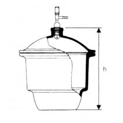 Vákuum exszikkátor csapos fedővel, plancsiszolattal
