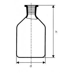 Normálcsiszolatos folyadéküveg dugóval