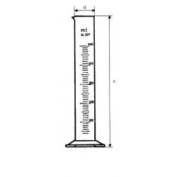 Mérőhenger B jelű üveg- vagy műanyagtalppal