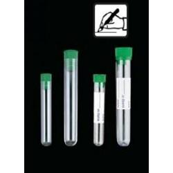 Kémcső zöld dugóval, címkével vagy címke nélkül