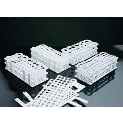 Kémcsőállvány kör alakú férőhelyekkel, fehér