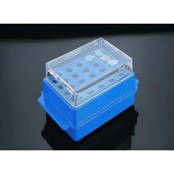 Fagyasztó rack tetővel mikrocsövekhez, kétoldalú (megfordítható) tartólap