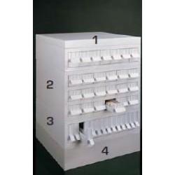 Laboratóriumi archiváló szekrény, moduláris, szürke