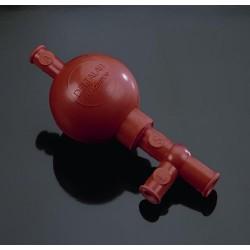 Piros Griffin ballon összes pipettához, három szelepes
