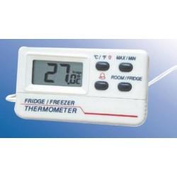 Digitális hőmérő hűtő/fagyasztó és helyiséglevegő mérésére