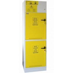 SAFETYBOX AB 600 típusú lúg- és savtároló szekrények elszeparált belső térrel