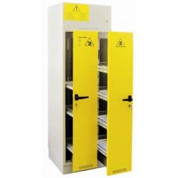 SAFETYBOXAB 30/ 30 EST típusú gördülőfiókos lúg- és savtároló szekrények elszeparált belső térrel