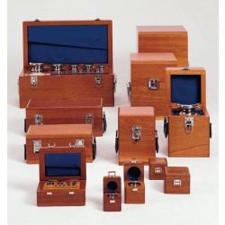 Kalibráló súlysorozat E2 pontossági osztály, fa dobozban