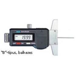 Gumiabroncs borda-mélységmérő, balkezes, digitális