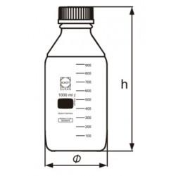Négyszögletes laboratóriumi üveg, Duran