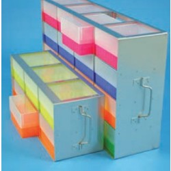 Oldalról kezelhető tárolóelemek az ultramélyhűtőkbe