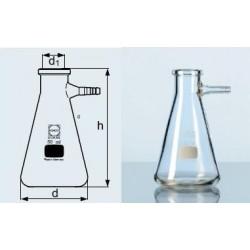 Szívópalack, Erlenmeyer forma, üveg vagy műanyag olivával