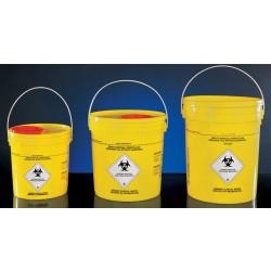 Veszélyes hulladék tartó vödör füllel, 7 liter
