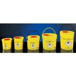 Veszélyes hulladék tartó vödör füllel, 1,5 liter