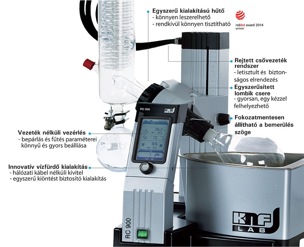 KNF RC900 vákuum bepárló jellemzői